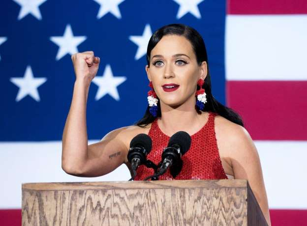 Katy Perry says she's sleeping through Trump's inauguration