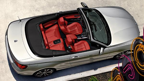 Dimensioni degli interni di BMW Serie 2 Cabrio