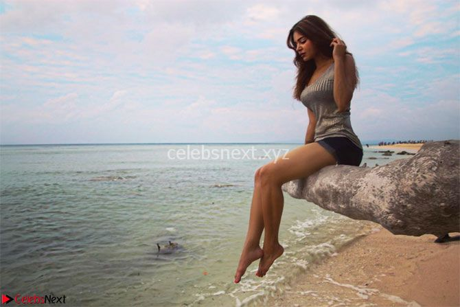 TV Actress Aashka Goradia in Bikini on a trip to Andamad Island ~ CelebsNext Exclusive