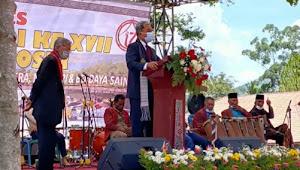 HUT Samosir, Mangindar Simbolon: Seorang Pemimpin Harus Menghargai Usaha Pendahulunya