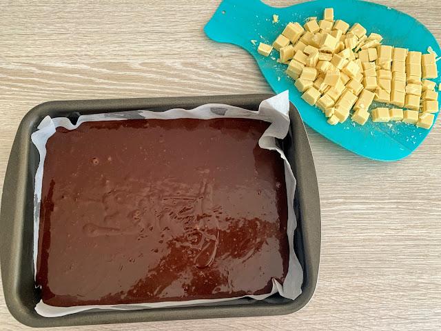 recette facile brownie pépites de chocolat blanc, les petites bulles de ma vie