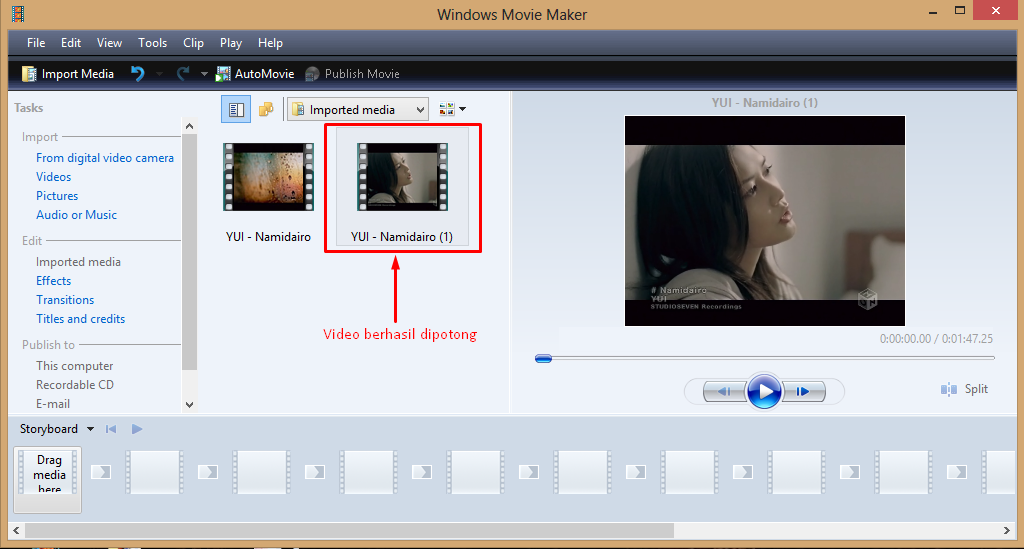 Cara Memotong Video Dengan Windows Movi Maker 4