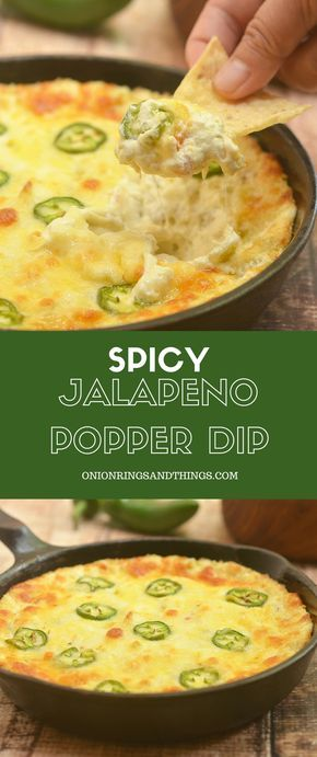 Cheesy Jalapeno Popper Dip made of cream cheese, diced green chilies, shredded cheese, and fresh jalapenos is the ultimate party appetizer! Cheesy, creamy and with just the right amount of heat, this cream cheese dip is absolutely addicting!