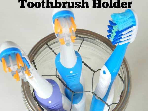 Easy DIY Farmhouse Style Toothbrush Holder