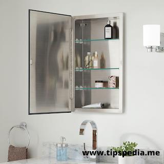 recessed bathroom medicine cabinet with mirror
