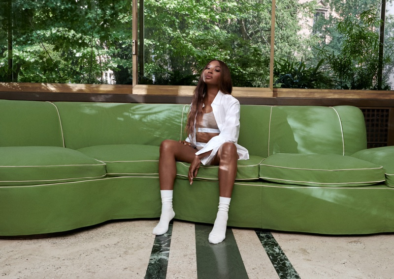 Modeling underwear, Naomi Campbell is the star of Kith for Calvin Klein season 2