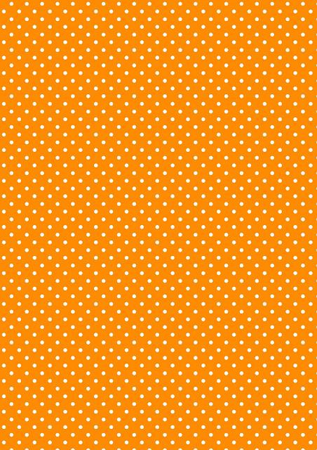 Free Digital Polka Dot Scrapbooking Paper Orange And