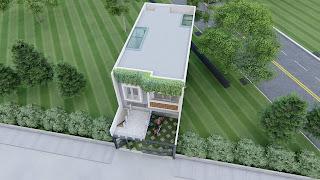 birdeye rumah minimalis untuk 2 lantai dan balkon mezzanine (2)
