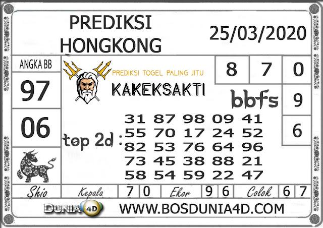 Prediksi Togel HONGKONG DUNIA4D 25 MARET 2020