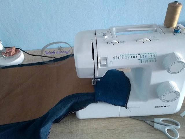 kurtka jeansowa DIY ze starych spodni