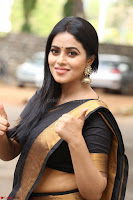Poorna in Cute Backless Choli Saree Stunning Beauty at Avantika Movie platinum Disc Function ~  Exclusive 014.JPG