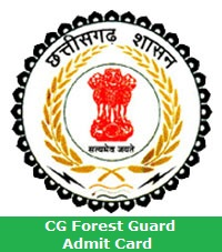 CG Forest Guard Admit Card