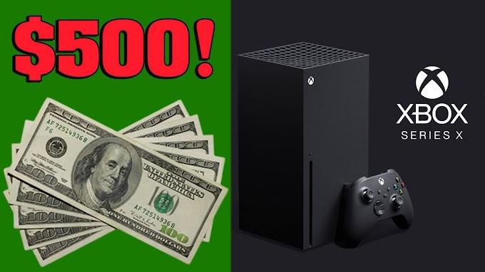 SORTEIO de um XBOX SERIES X ou $500 em DINHEIRO