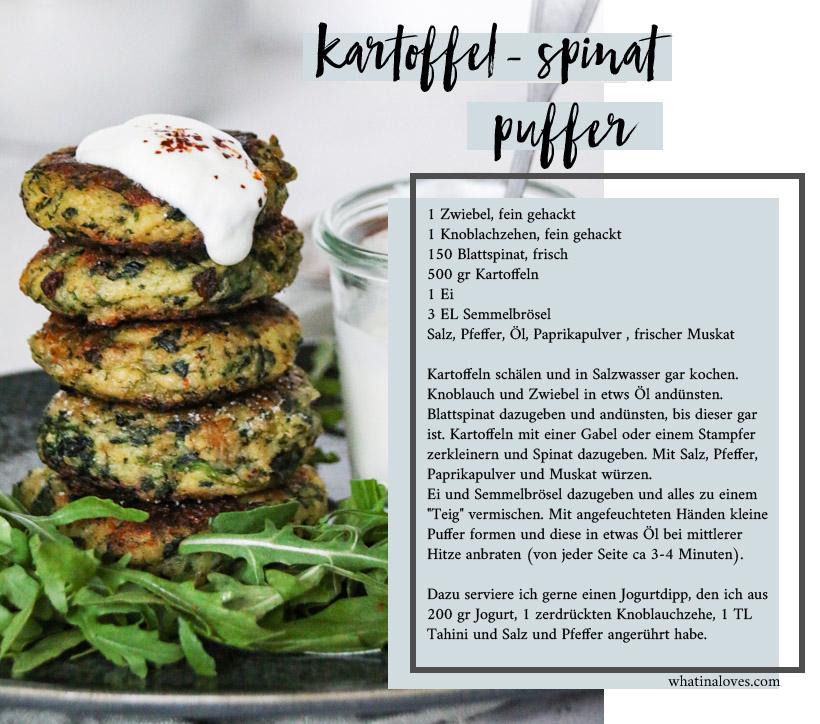 Kartoffel-Spinat-Puffer