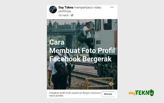 Cara membuat foto profil facebook bergerak