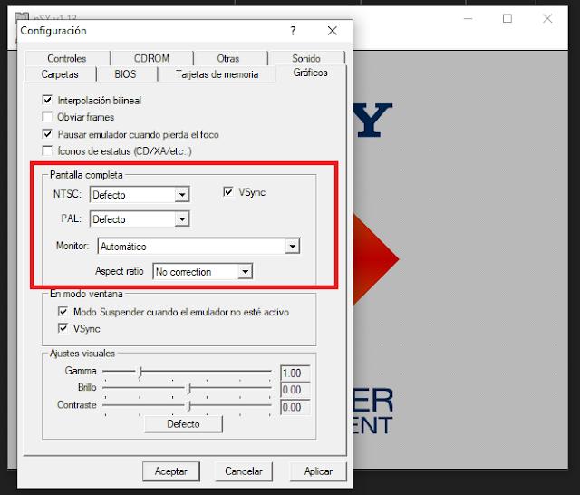 Aumentar resolución en PSXFIN