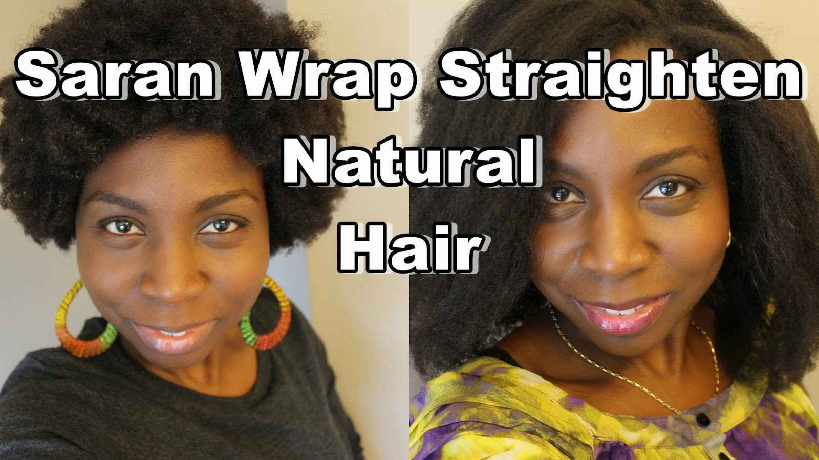 Her Followers Asked To Straighten 4c Natural Hair Using The Saran Wrap Method And She Did Watch As Stretches With Rollers