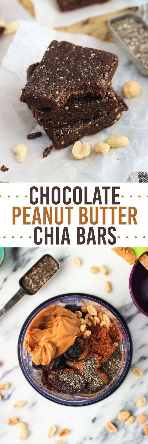 Chocolate Peanut Butter Chia Bars