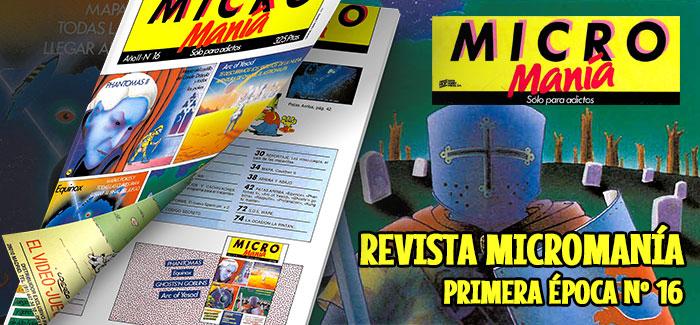Revista Micromanía Primera época Número 16 1986