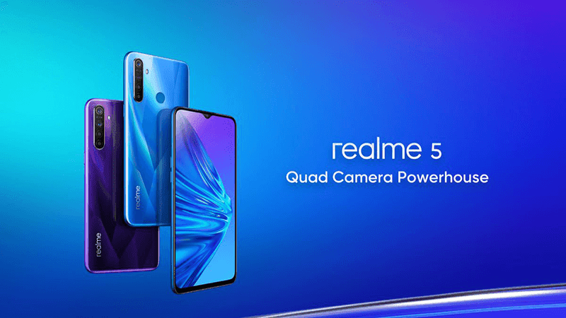 Realme 5 budget phone with a quad-camera setup now official!