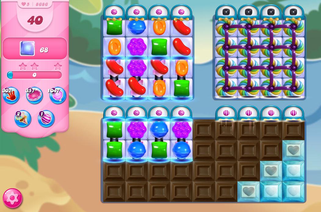 Candy Crush Saga level 8686