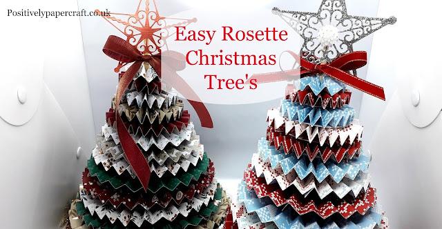 Rosette Christmas Tree, Paper Tree, Rosette Tree Tutorial