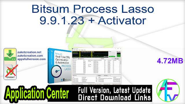 Bitsum Process Lasso 9.9.1.23 + Activator