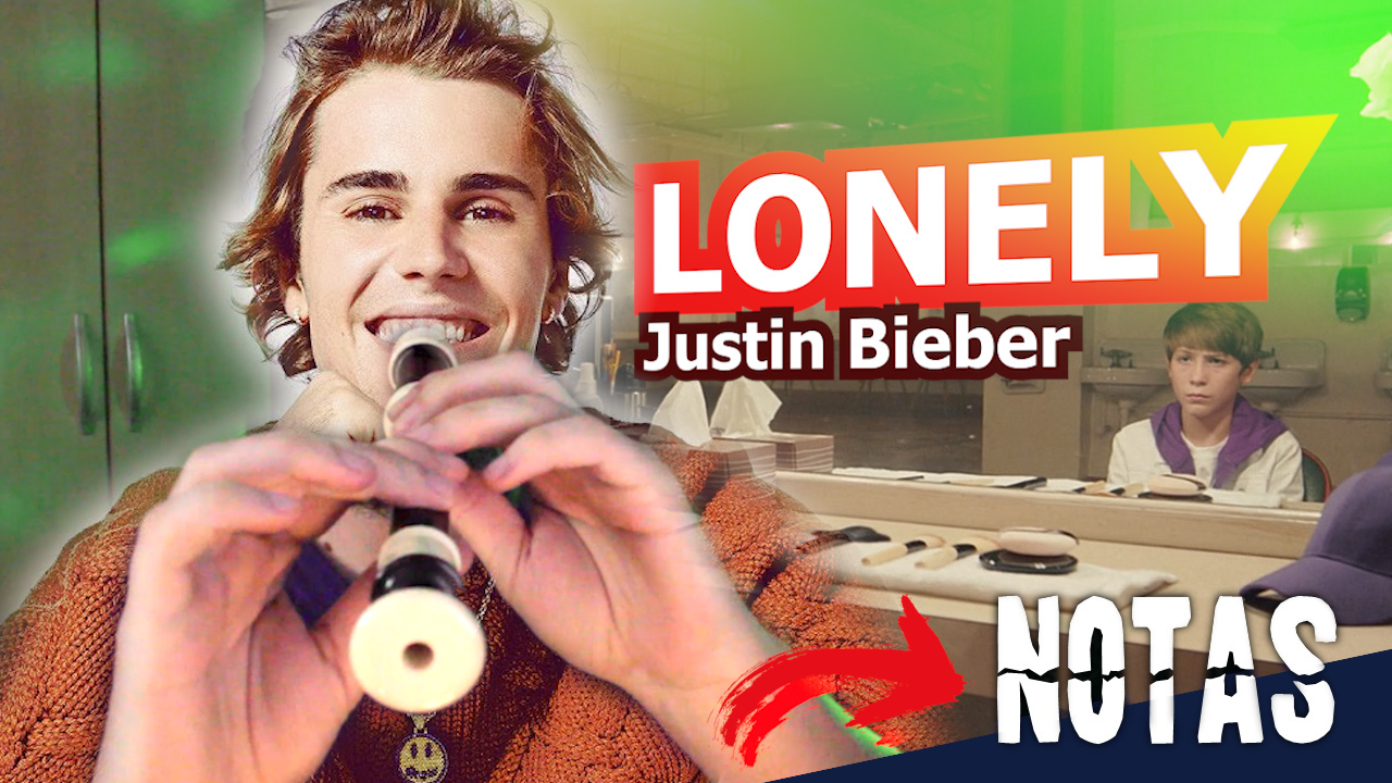 Lonely - Justin Bieber - Melodic notes flute recorder