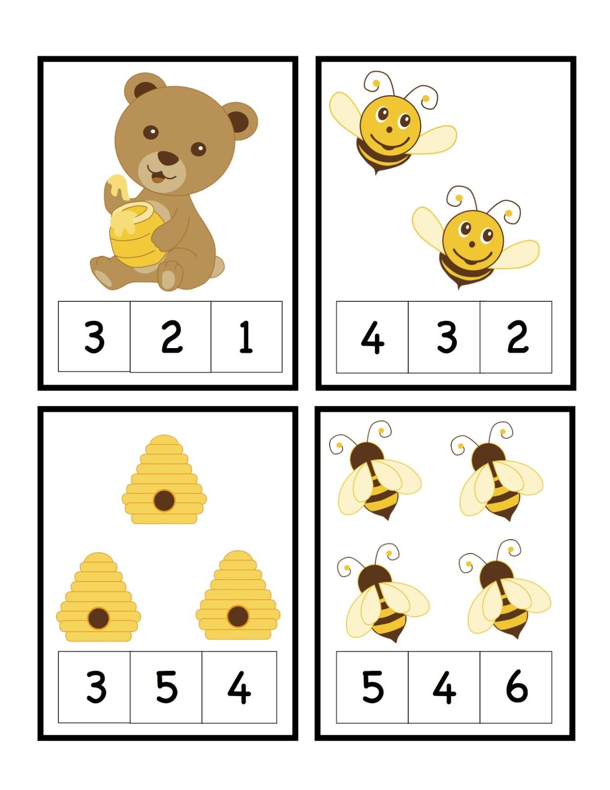 Preschool Printables Bee Amp Bear Printable