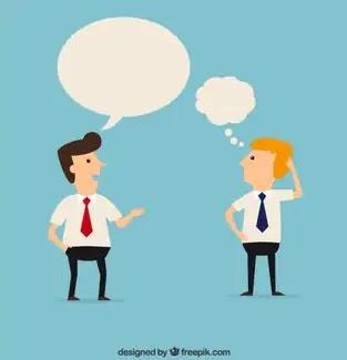 percakapan satu dengan yang lainnya