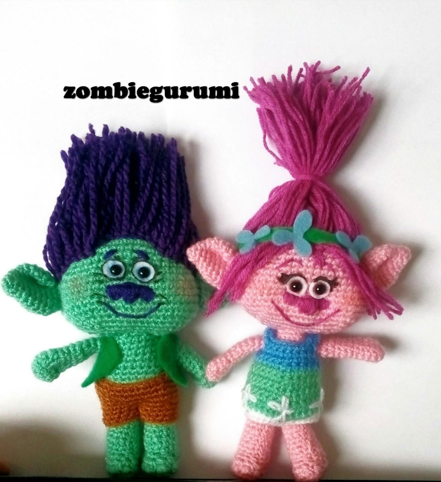 Trolls Knitting Or Crocheting Patterns : Amigurumis poppy amigurumi trolls la pelicula