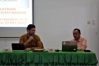 Pelatihan Digitalisasi Naskah IAIN Surakarta