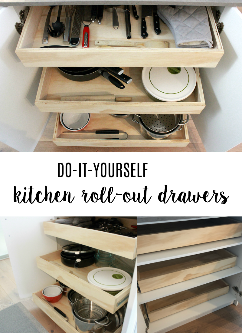 Custom Kitchen Roll-Out Drawers DIY