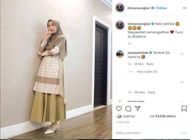 Outfit Simple Dan elegan A La Shireen Sungkar