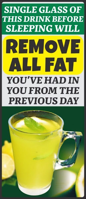 Single Glass Of This Drink Before Sleeping Will Help You Remove Fat You've Had In You From The Previous Day