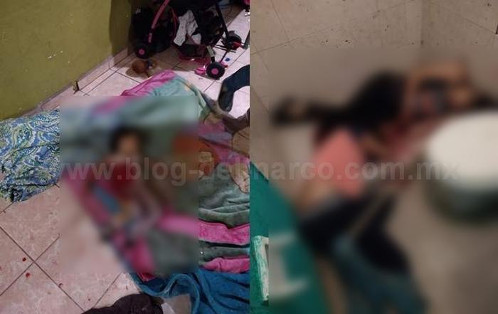 Sicarios entran a casa  en Celaya; Guanajuato y ejecutan a 5 personas, entre ellas a una niña de solo 3 años