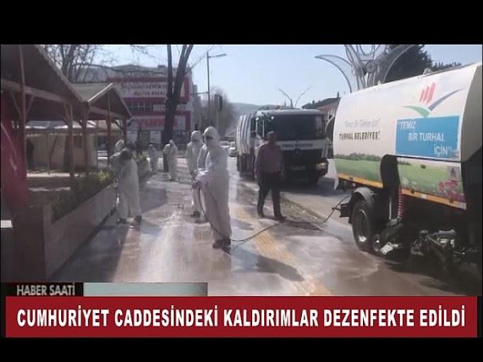 TURHAL BELEDİYESİ'DE KORONAVİRÜSLE MÜCADELE KAPSAMINDA