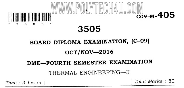 c-09 dme thermal engineering-2 previous question papers
