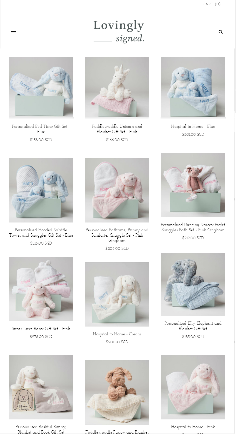 Find Your Perfect Gift Set For Newborn Babies at Lovingly Signed