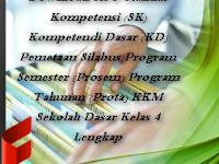 Download RPP Standar Kompetensi (SK) Kompetendi Dasar (KD) Pemetaan Silabus Program Semester (Prosem) Program Tahunan (Prota) KKM Sekolah Dasar Kelas 4 Lengkap