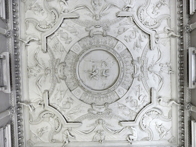 The ceiling of the Marble Hall,  Clandon Park (July 2014) © Andrew Knowles
