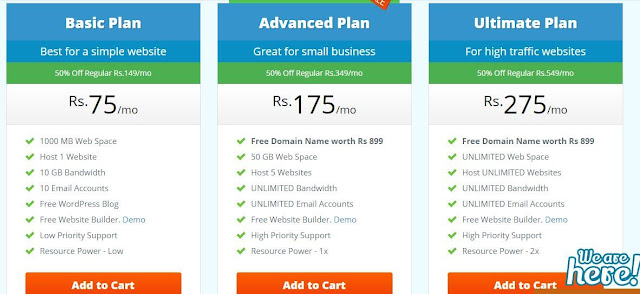 Best Hosting plan in India