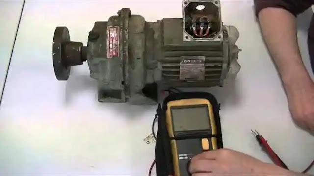 كيفية فحص محرك كهربائي الجزء الاول