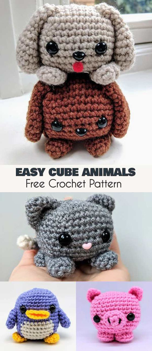 Easy Cube Animals - Free Amigurumi Crochet Pattern