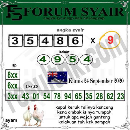 Forum Syair HK Kamis 24 September 2020