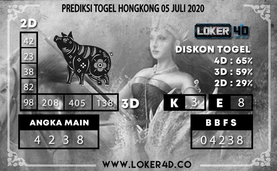 PREDIKSI TOGEL LOKER4D HONGKONG 05 JULI 2020