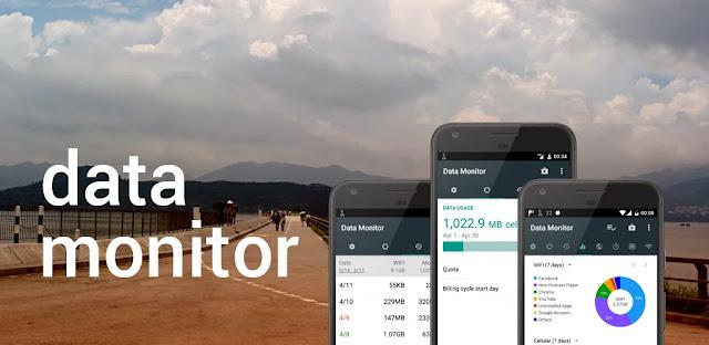 تنزيل Data Monitor: Simple Net Meter  برنامج بسيط لمراقبة بيانات الإنترنت