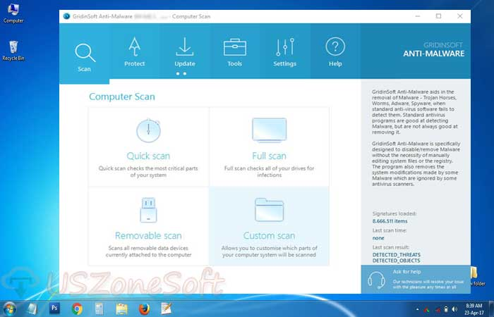 Gridinsoft Anti-Malware malware virus, Trojan virus, spyware virus, rootkits, adware virus and PUPs remover and cleaner download