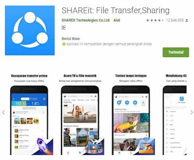 SHAREit adalah aplikasi pengirim file di HP android