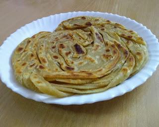 Wheat flour lachha paratha, Layered paratha, Homemade lachha paratha, 3 ingredients lachha paratha